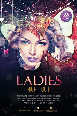 Ladies Night Out FREE PSD Flyer Template