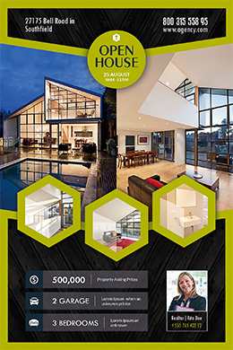 Open House Multi- FREE PSD Flyer Template