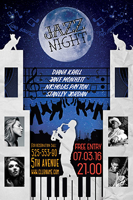 Jazz Night FREE PSD Flyer Template