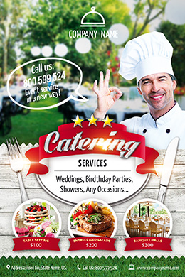 Catering Services FREE PSD Flyer Template