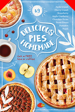 Delicious Pies PSD Flyer Template