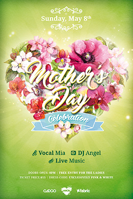Mother's Day Celebration FREE PSD Flyer