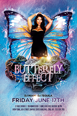 Butterfly Effect FREE PSD Flyer Template