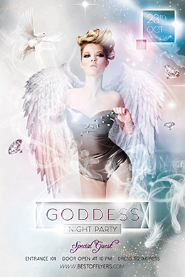 Goddess Night Party FREE PSD Flyer