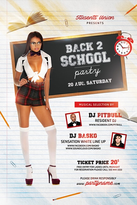 free flyer with schoolgirl