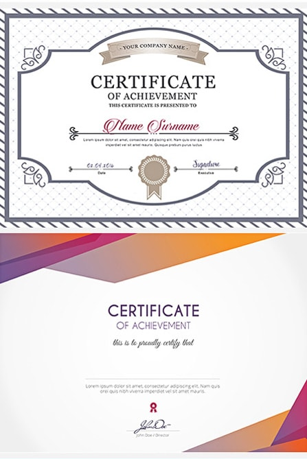 free certificate psd template