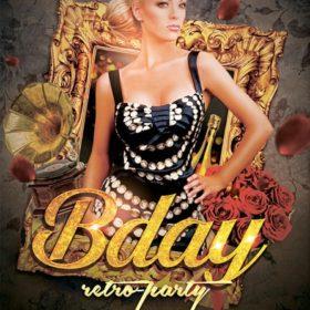 retro girl birthday