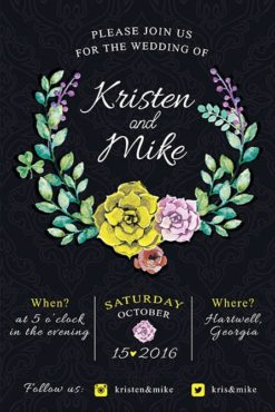 retro wedding invitation free flyer