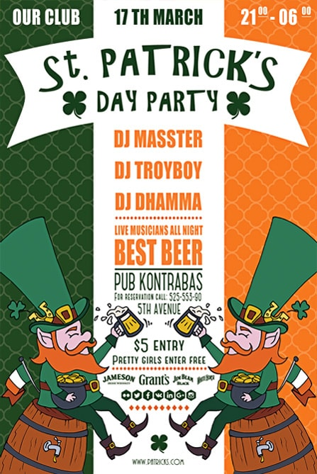 saint patrick illustration free flyer