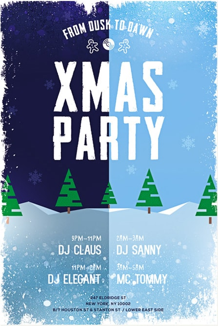 Merry Xmas Party Free Flyer Template  Download Flyer For Christmas