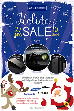 Holiday Sale FREE PSD Flyer Template