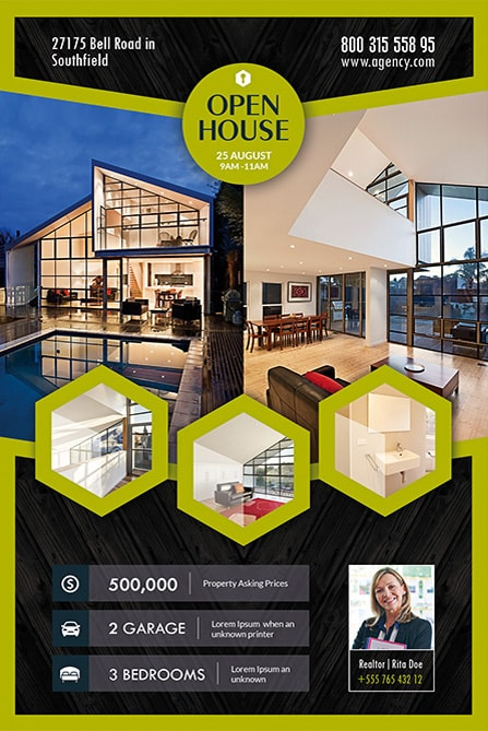 Open House Free Flyer Template  Open House Flyer Template