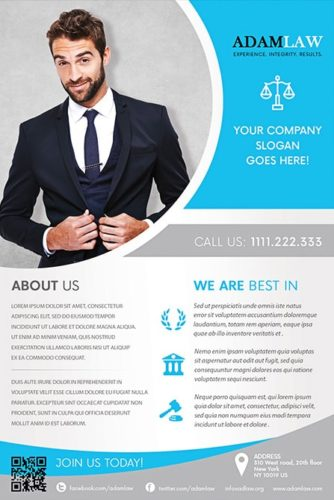 lawyer service flyer template