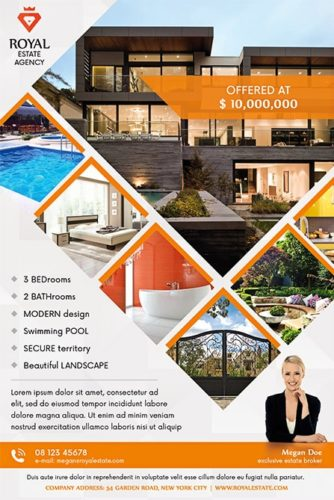 squares with photos on real estate theme