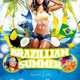 Brazil Summer Free Flyer Template