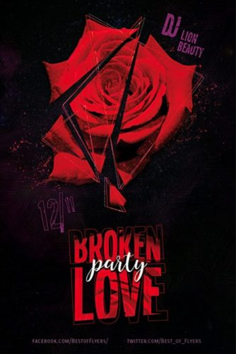 Broken_Love_Party_Flyer_Template