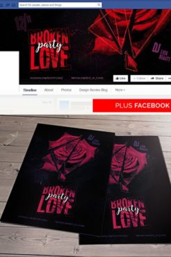Broken_Love_Party_Flyer_Template_1
