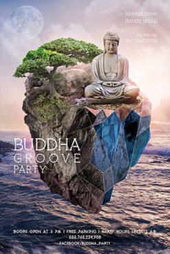 buddha on the floating island