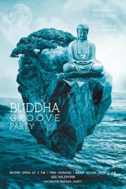 Buddha_Groove_Party_Flyer_Template_2