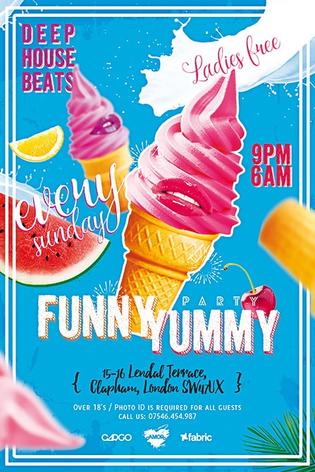 ice cream party free flyer
