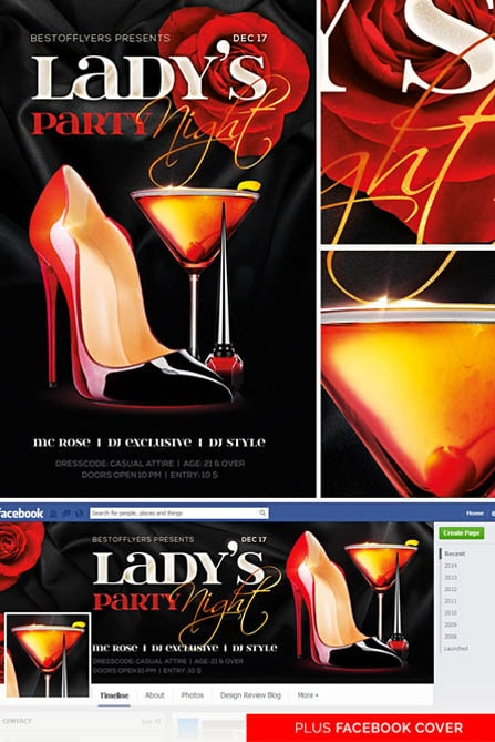 elegant shoe with cocktail and red rose