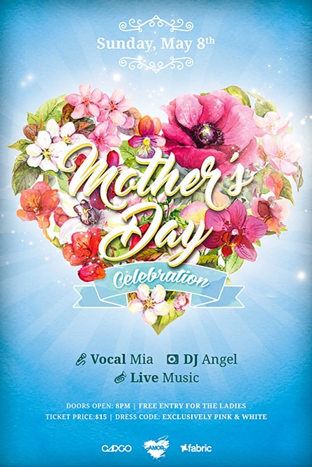 mothers day celebration free flyer template best of flyers