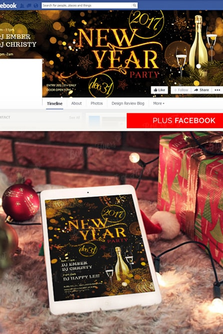 New Year Party Free Psd Flyer Template For Elegant And Classy Events
