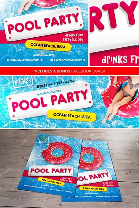 Pool Party Psd Flyer Template  Best Of Flyers