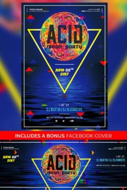 Acid_Moon_Party_Flyer_Template_1