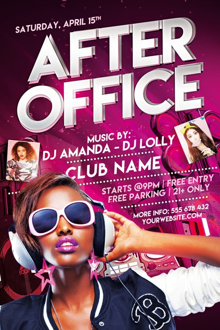 Afyer Office Party Flyer Template