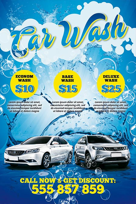 car wash free poster template best of flyers. Black Bedroom Furniture Sets. Home Design Ideas
