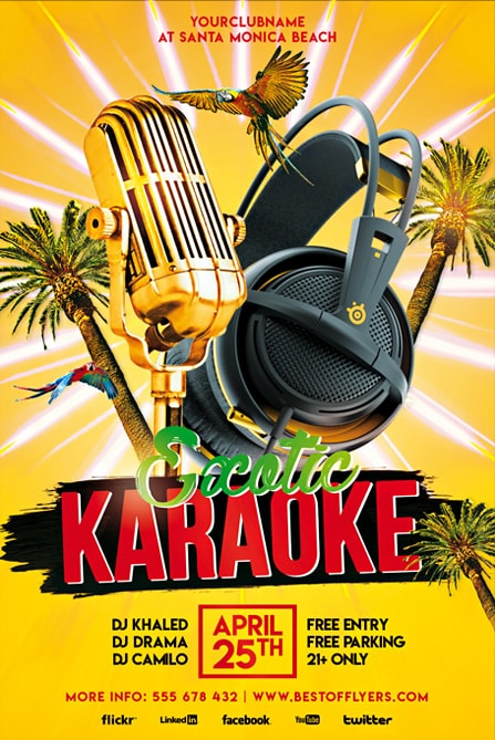 exotic karaoke party free flyer template best of flyers