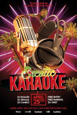 Exotic_Karaoke_Party_Flyer_Template_1