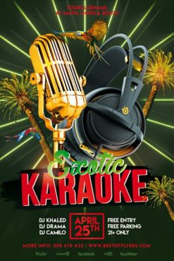 Exotic_Karaoke_Party_Flyer_Template_2