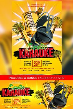 karaoke free flyer template