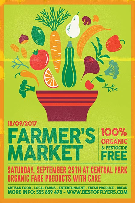 Advertise your Markt with the Farmers Market Free Poster