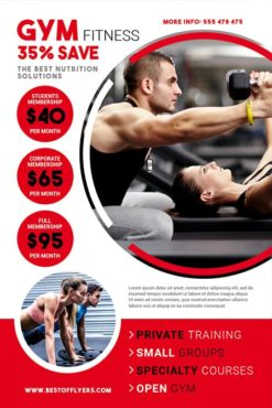 gym free flyer template
