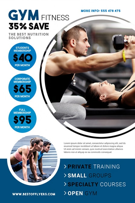 fitness free flyer template