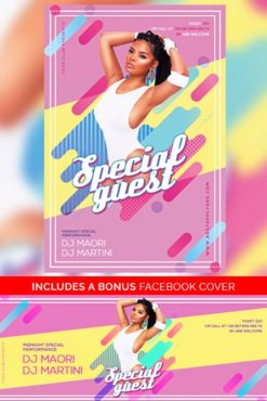 Geometric_Special_Guest_Party_Flyer_Template_1
