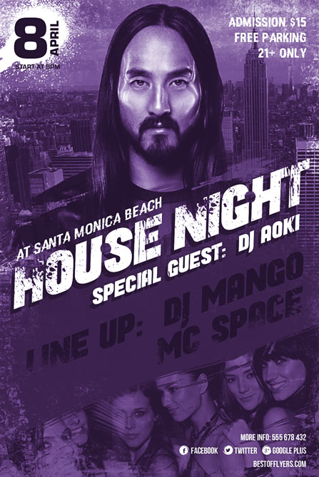Steve Aoki Party Flyer Template