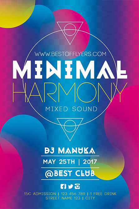 Minimal Harmony Poster Template  Best Of Flyers