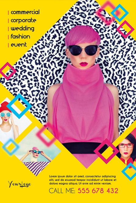 Fashion photography multipurpose free flyer template for Fashion flyers templates for free