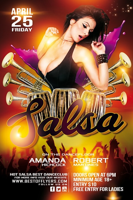 Salsa Party Free Flyer Template Best Of Flyers