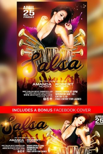 salsa flyer template