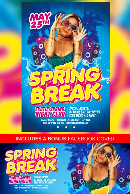 beach party free flyer template
