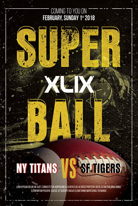 Super Bowl Football Free Flyer Template  Best Of Flyers