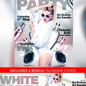 White_Party_Flyer_Template_2