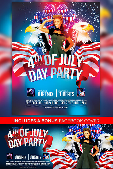 4th July Poster And Flyer Psd Template Download Free Flyer Templates