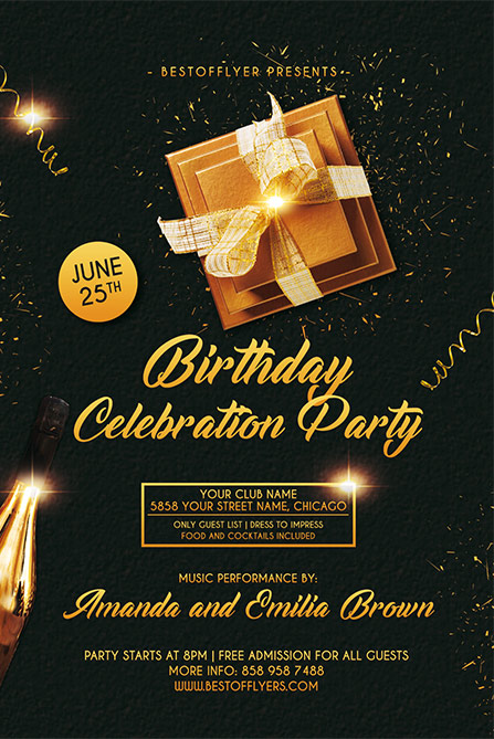 Birthday Celebration Free Flyer And Poster Template For Birthday Events