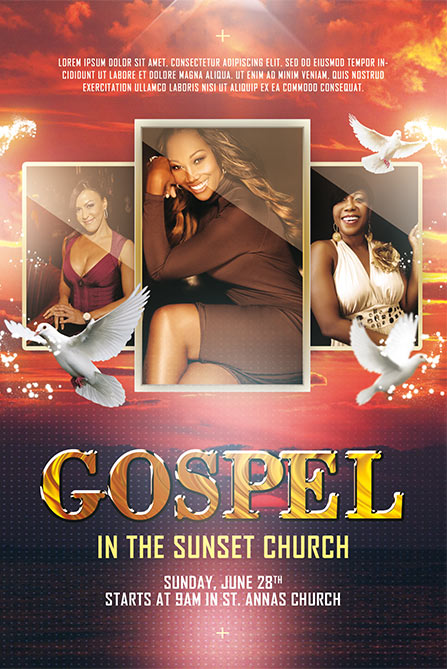 Free Gospel Poster And Flyer Template For Gospel And Church Events